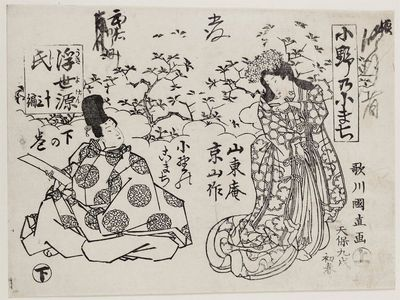 Utagawa Kuninao: Ono no Komachi ukiyo Genji, Part 13 - ボストン美術館
