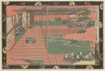 Utagawa Kuninao: Act IV (Yodanme no zu), from the series Newly Published Perspective Pictures of the Storehouse of Loyal Retainers (Shinpan uki-e Chûshingura) - ボストン美術館