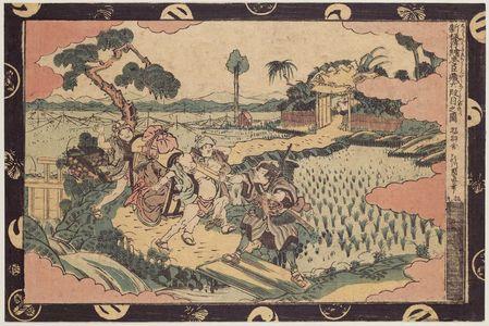 Utagawa Kuninao: Act VI (Rokudanme no zu), from the series Newly Published Perspective Pictures of Chûshingura (Shinpan uki-e Chûshingura) - Museum of Fine Arts
