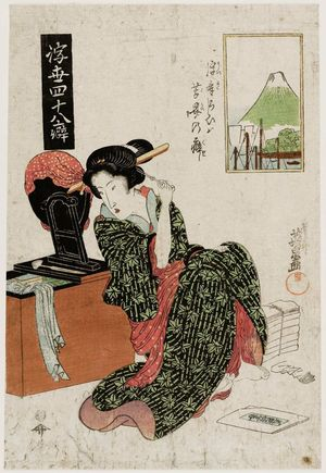 Keisai Eisen: from the series Forty-eight Mannerisms in the Floating World (Ukiyo yonjûhachi kuse) - Museum of Fine Arts