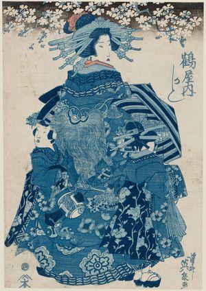 渓斉英泉: Kashiku of the Tsuruya - ボストン美術館