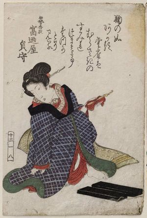 Keisai Eisen: No. 13-1-8, from an untitled series of beauties - Museum of Fine Arts