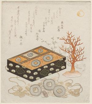 Ryuryukyo Shinsai: Decorated Box with Coins and Coral - Museum of Fine Arts