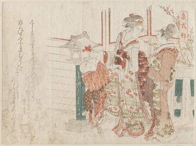 柳々居辰斎: Izumi Shikibu, from an untitled series of female poets - ボストン美術館
