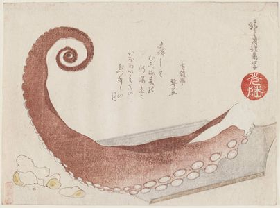 Teisai Hokuba: Tentacle - Museum of Fine Arts