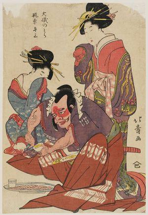 Shotei Hokuju: Ôiso no Tora and Kajiwara Heizô - Museum of Fine Arts