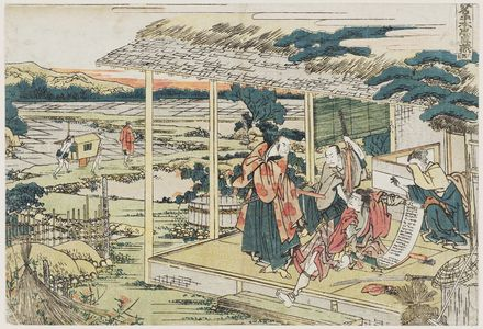 Katsushika Hokusai: Act VI (Rokudanme), from the series The Storehouse of Loyal Retainers, a Primer (Kanadehon Chûshingura) - Museum of Fine Arts
