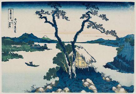 Katsushika Hokusai: Lake Suwa in Shinano Province (Shinshû Suwa-ko), from the series Thirty-six Views of Mount Fuji (Fugaku sanjûrokkei) - Museum of Fine Arts