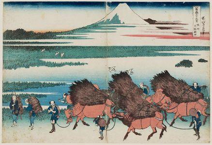 Katsushika Hokusai: The Paddies of Ôno in Suruga Province (Sunshû Ôno-shinden), from the series Thirty-six Views of Mount Fuji (Fugaku sanjûrokkei) - Museum of Fine Arts