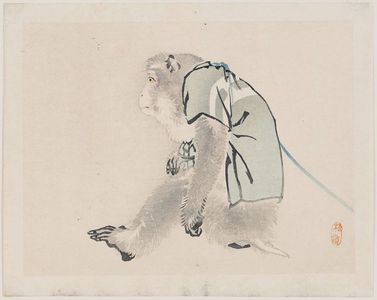Kono Bairei: Performing Monkey - Museum of Fine Arts