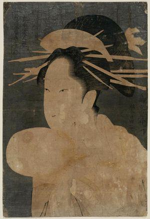 鳥高斎栄昌: Somenosuke of the Matsubaya, from the series Contest of Beauties of the Pleasure Quarters (Kakuchû bijin kurabe) - ボストン美術館