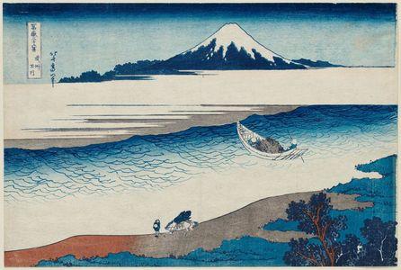 葛飾北斎: The Jewel River In Musashi Province (Bushû Tamagawa), from the series Thirty-six Views of Mount Fuji (Fugaku sanjûrokkei) - ボストン美術館