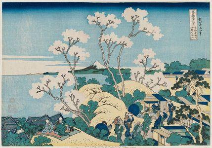 葛飾北斎: Fuji from Goten-yama, at Shinagawa on the Tôkaidô (Tôkaidô Shinagawa Goten-yama no Fuji), from the series Thirty-six Views of Mount Fuji (Fugaku sanjûrokkei) - ボストン美術館