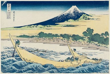 Katsushika Hokusai: Tago Bay near Ejiri on the Tôkaidô (Tôkaidô Ejiri Tago-no-ura ryakuzu), from the series Thirty-six Views of Mount Fuji (Fugaku sanjûrokkei) - Museum of Fine Arts
