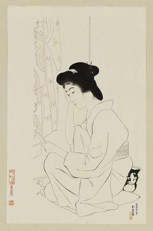 Hashiguchi Goyo: Pocket Mirror (Futokoro kagami) - Museum of Fine Arts