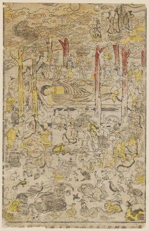 西村重信: Death of Buddha - ボストン美術館