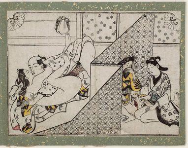 菱川師宣: Erotic Print - ボストン美術館