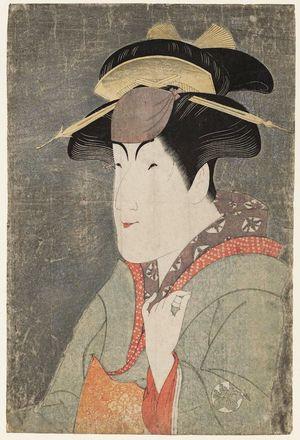 東洲斎写楽: Actor Nakayama Tomisaburô as Miyagino - ボストン美術館