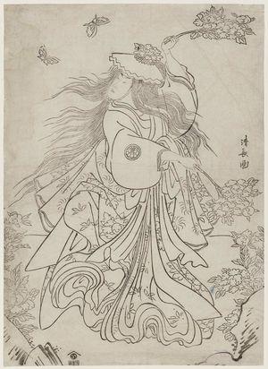 Torii Kiyonaga: Actor Segawa Kikunojô III Performing the Lion Dance (Shakkyô) - Museum of Fine Arts