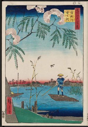 Utagawa Hiroshige: Ayase River and Kanegafuchi (Ayasegawa Kanegafuchi), from the series One Hundred Famous Views of Edo (Meisho Edo hyakkei) - Museum of Fine Arts