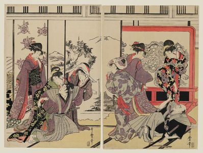 Kitagawa Utamaro: Housecleaning - Museum of Fine Arts