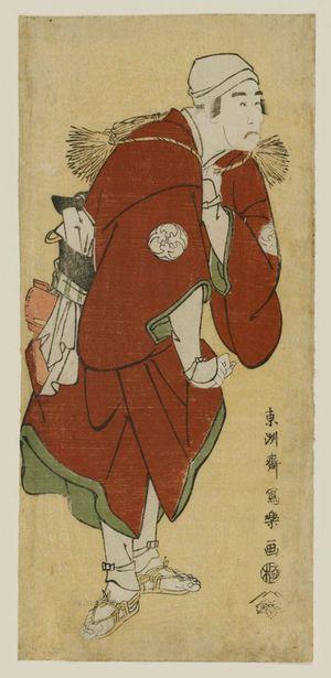 Toshusai Sharaku: Actor Bandô Mitsugorô II as the Farmer Fukakusa no Jirôsaku - Museum of Fine Arts