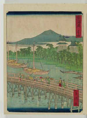 二歌川広重: Yoshida, from the series The Tôkaidô Road (Tôkaidô) - ボストン美術館