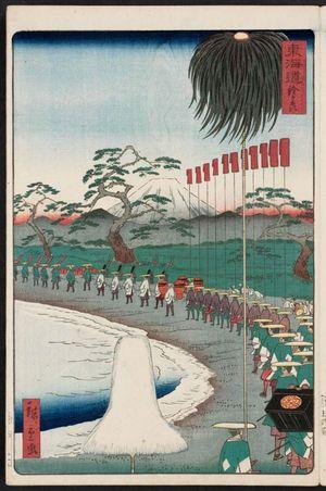 二歌川広重: Suzugamori, from the series Scenes of Famous Places along the Tôkaidô Road (Tôkaidô meisho fûkei), also known as the Processional Tôkaidô (Gyôretsu Tôkaidô), here called Tôkaidô - ボストン美術館