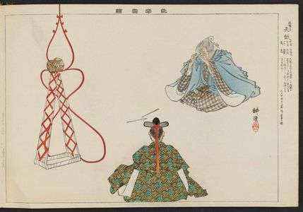 月岡耕漁: Tenko, from the series Pictures of Nô Plays, Part II, Section I (Nôgaku zue, kôhen, jô) - ボストン美術館