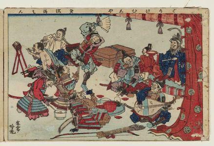 Adachi Ginko: Comical Warriors (Dôke musha), from the album Tawamure-e (Playful Pictures) - Museum of Fine Arts