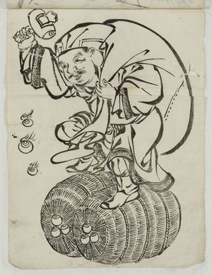 Unknown: Daikoku Dancing on Rice Bales - Museum of Fine Arts