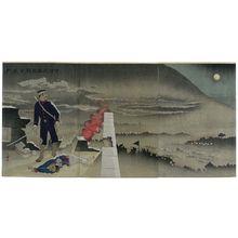 Kobayashi Kiyochika: Defying a Shower of Bullets, He, Alone, Opened Hyonmu Gate (Dan'u o okashite tanshin Genbumon o hiraku) - Museum of Fine Arts