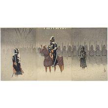 小林清親: Illustration of the Landing and Advance to Weihaiwei (Ikaiei jôriku shingun no zu) - ボストン美術館