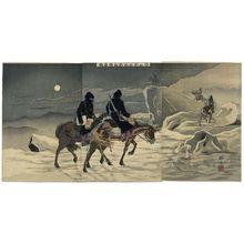 平川清蔵: Scouting Enemy Movements on Ice near Yingkou (Eikô fukin hyôtô tekijô teisatsu) - ボストン美術館