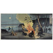 Taguchi Beisaku: Distant View of Fengtianfu: Picture of the Bivouac of Japanese Troops (Hôtenfu enbô: Nichigun roei no zu) - ボストン美術館