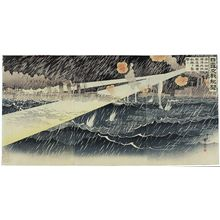 Migita Toshihide: News of Russo-Japanese Battles: For the Fourth Time Our Destroyers Bravely Attack Enemy Ships Outside the Harbor of Port Arthur (Nichiro kôsen kibun: Dai yonkai Ryojunkô gaiiki kuchikukan yû tekikan o shûgeki su) - Museum of Fine Arts
