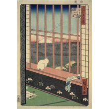 歌川広重: Asakusa Ricefields and Torinomachi Festival (Asakusa tanbo Torinomachi môde), from the series One Hundred Famous Views of Edo (Meisho Edo hyakkei) - ボストン美術館