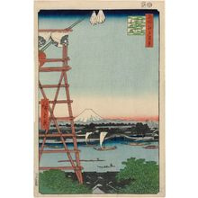 Utagawa Hiroshige: Ryôgoku Ekôin and Moto-Yanagibashi Bridge (Ryôgoku Ekôin Moto-Yanagibashi), from the series One Hundred Famous Views of Edo (Meisho Edo hyakkei) - Museum of Fine Arts