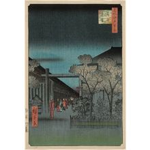 歌川広重: Dawn inside the Yoshiwara (Kakuchû shinonome), from the series One Hundred Famous Views of Edo (Meisho Edo hyakkei) - ボストン美術館