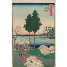 歌川広重: Suwa Bluff, Nippori (Nippori Suwanodai), from the series One Hundred Famous Views of Edo (Meisho Edo hyakkei) - ボストン美術館