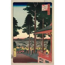 歌川広重: Ôji Inari Shrine (Ôji Inari no yashiro), from the series One Hundred Famous Views of Edo (Meisho Edo hyakkei) - ボストン美術館