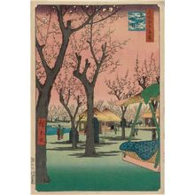 Utagawa Hiroshige: Plum Garden at Kamata (Kamata no umezono), from the series One Hundred Famous Views of Edo (Meisho Edo hyakkei) - Museum of Fine Arts