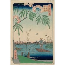 歌川広重: Ayase River and Kanegafuchi (Ayasegawa Kanegafuchi), from the series One Hundred Famous Views of Edo (Meisho Edo hyakkei) - ボストン美術館