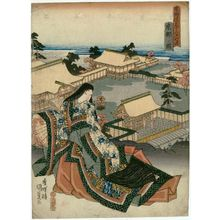 Utagawa Kunisada: View of Kyoto (Kyôto no zu), from the series Fifty-three Stations of the Tôkaidô Road (Tôkaidô gojûsan tsugi no uchi) - Museum of Fine Arts