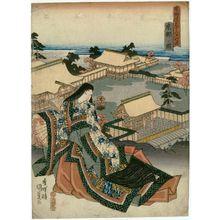 Utagawa Kunisada: View of Kyoto (Kyôto no zu), from the series Fifty-three Stations of the Tôkaidô Road (Tôkaidô gojûsan tsugi no uchi) - Museum of Fine Arts