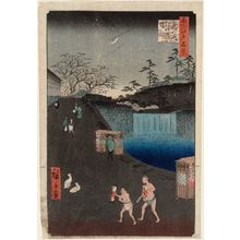 歌川広重: Aoi Slope, Outside Toranomon Gate (Toranomon-soto Aoizaka), from the series One Hundred Famous Views of Edo (Meisho Edo hyakkei) - ボストン美術館