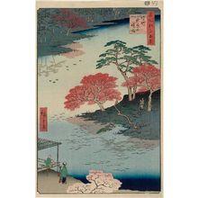 歌川広重: Inside Akiba Shrine, Ukeji (Ukeji Akiba no keidai), from the series One Hundred Famous Views of Edo (Meisho Edo hyakkei) - ボストン美術館