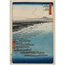 Utagawa Hiroshige: Minami-Shinagawa and Samezu Coast (Minami-Shinagawa Samezu kaigan), from the series One Hundred Famous Views of Edo (Meisho Edo hyakkei) - Museum of Fine Arts
