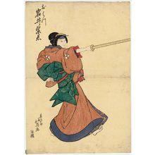 Shunbaisai Hokuei: Actor Iwai Shijaku I as Ohatsu - ボストン美術館