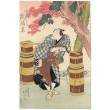Shunbaisai Hokuei: Actor Arashi Rikan as Aburaya Yohei - Museum of Fine Arts